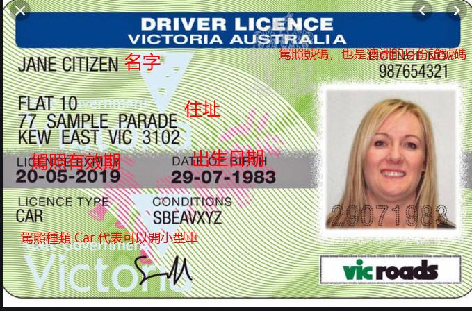 2020澳洲辦駕照 (維多利亞州/昆士蘭/西澳駕照申請教程)