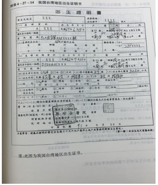 ACT台灣出生證明翻譯