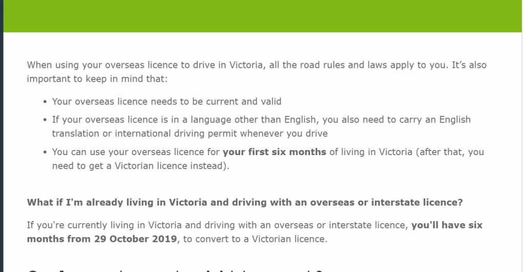 中国驾照转澳洲驾照2020