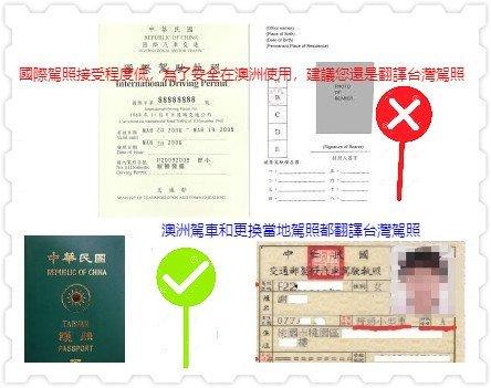 澳洲國際駕照 natti 翻譯